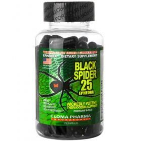Black Spider 25 Diet Pills with Ephedra Popular Diet Pill